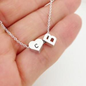 Double Initial Necklace, Personaliz..