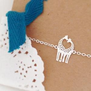 Tiny Love Giraffe Bracelet, Heart B..