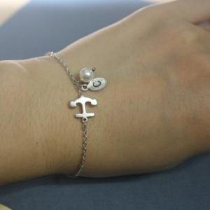 Anchor bracelet, friendship gift, b..