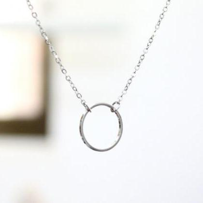 Karma Circle Necklace, eternity cir..