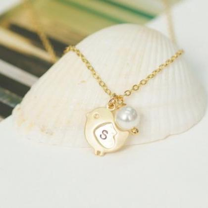 Baby Chick necklace, Personalized i..