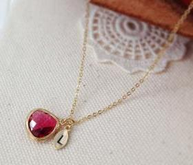 Ruby Stone Necklace ..