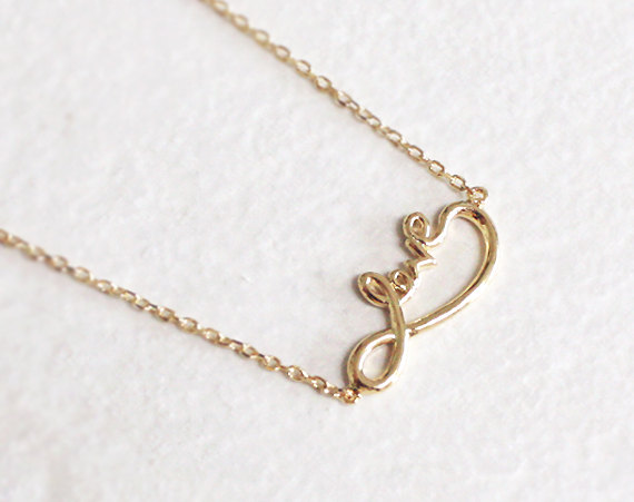Infinity necklace in gold love infinity love necklace on luulla infinity necklace in gold love infinity love necklace aloadofball Images