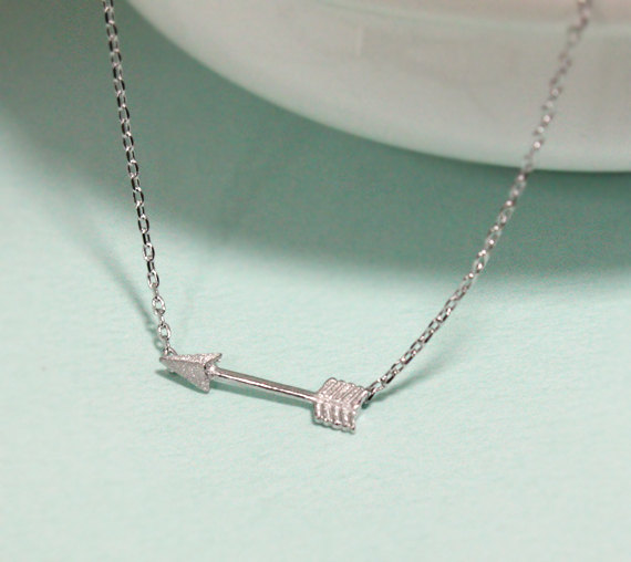 Tiny arrow necklace , everyday jewelry, delicate minimal jewelry